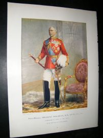 Field Marshall Viscount Wolseley 1900 Military Portrait Print. Boer War
